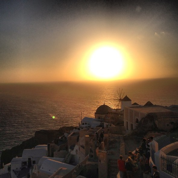 Sunset at Oia.